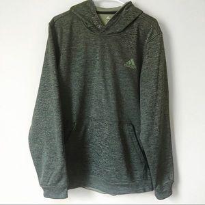 Men's Adidas Green Fleece Lined Hoodie Large
